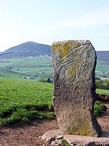 Craw Stane Pictish stone in Rhynie Aberdeenshire
