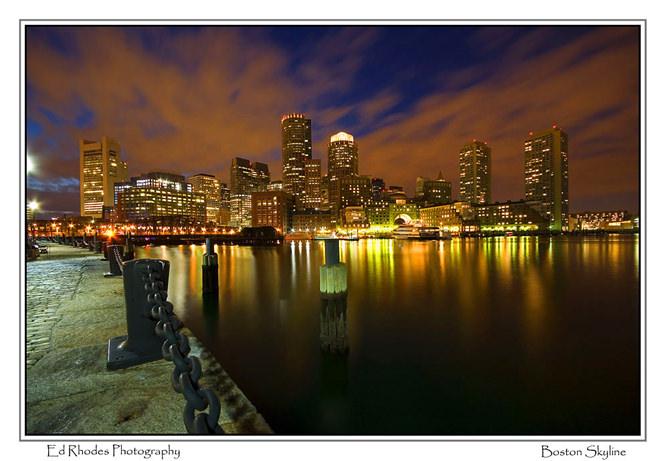 Boston Skyline by edrhodes