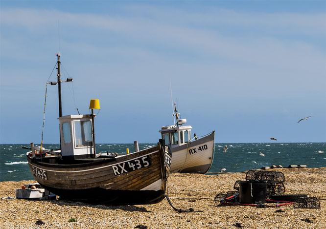 2 boats and crab pots