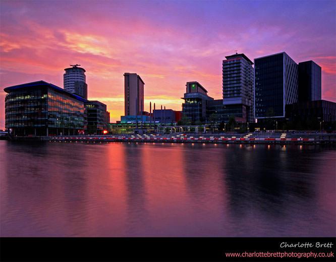 Media City Sunset