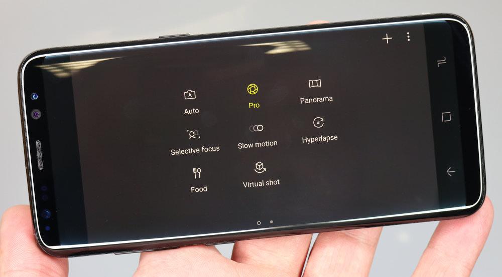 Samsung Galaxy S8 camera controls