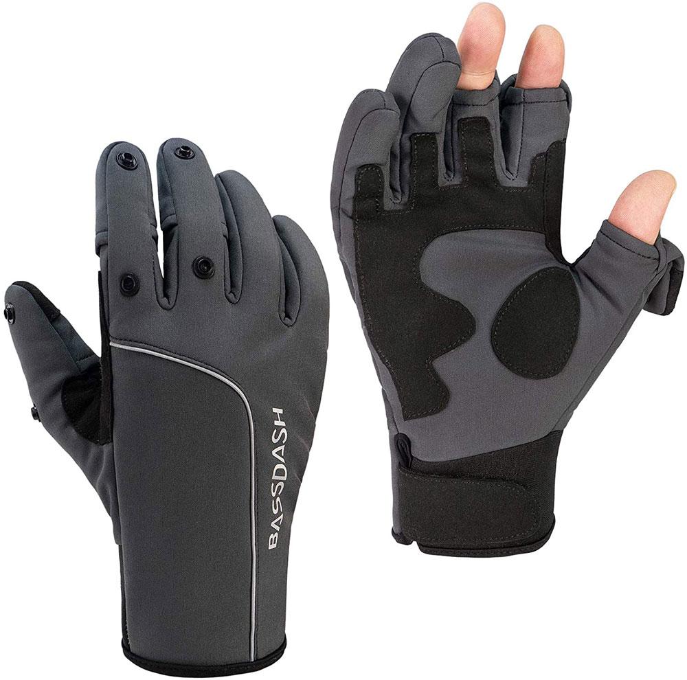 Bassdash WintePro Insulated Fishing Gloves