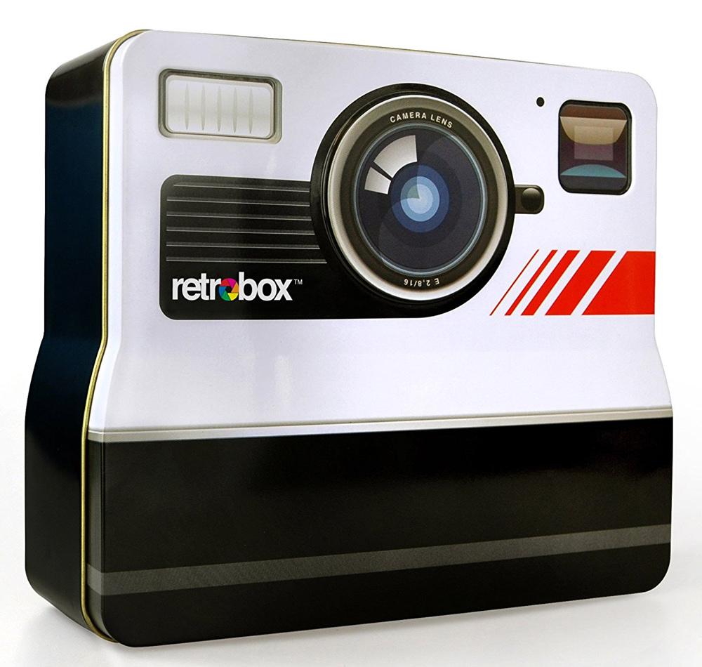 Lunch box with Retro Camera Design