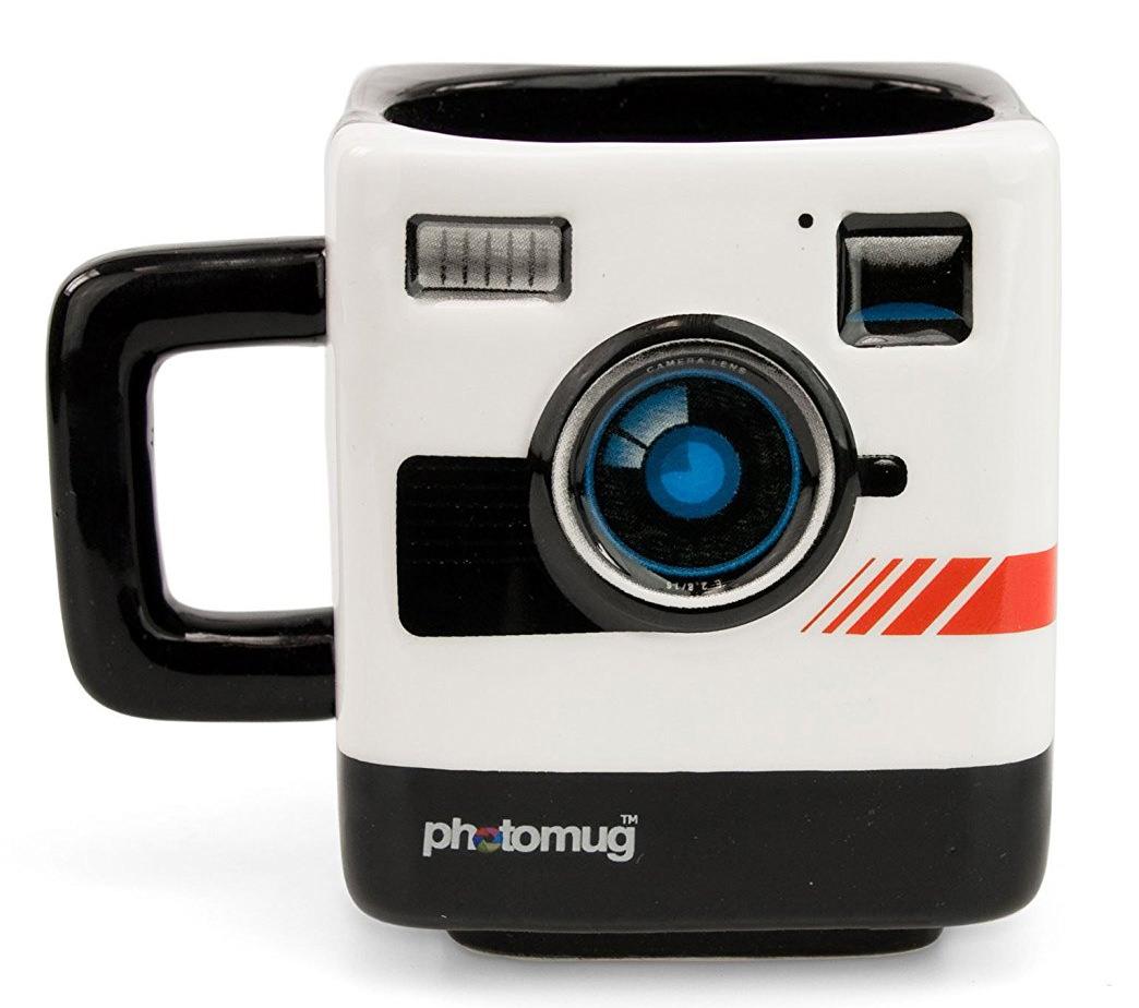 Coffee Mug with Retro Camera Design