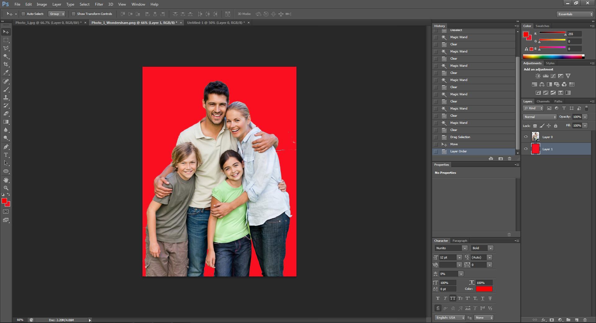 create a pure colour background