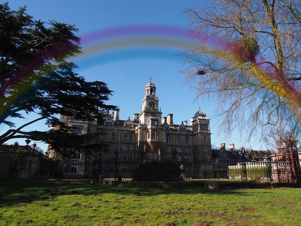 Rainbow filter used on landscape