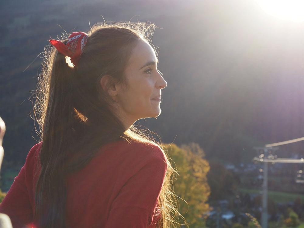 Portrait in the sun