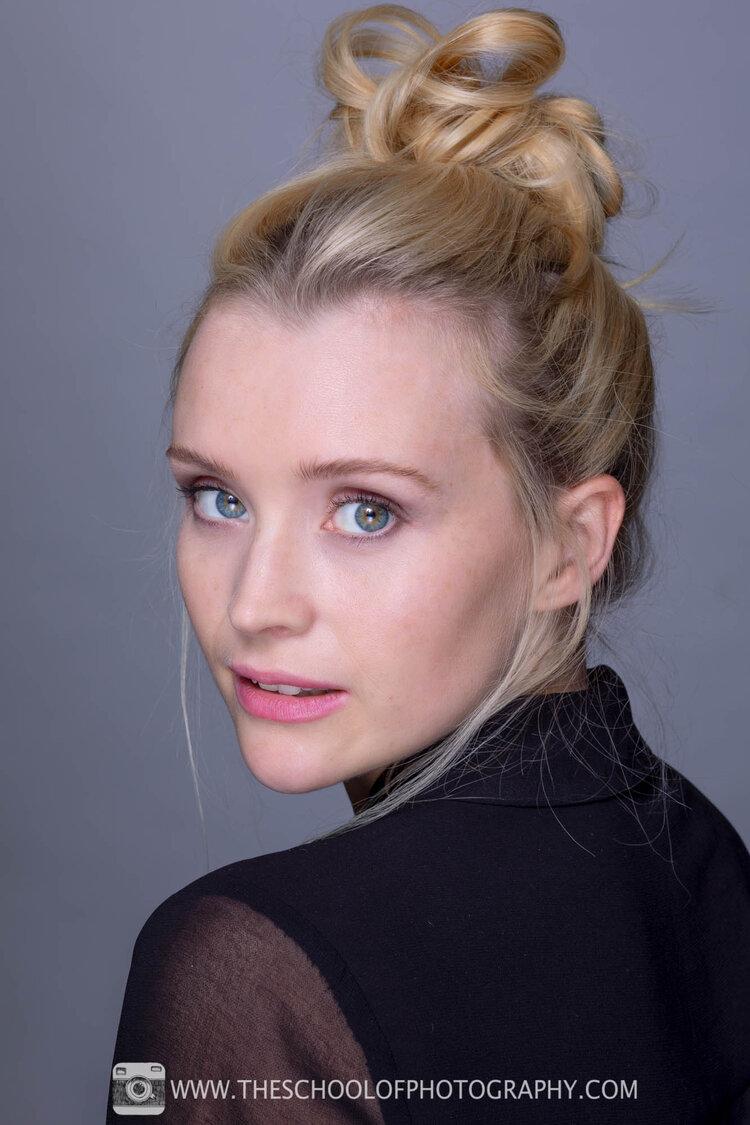 Head and shoulder shot of female model