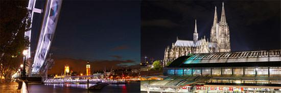 Night photography London Eye