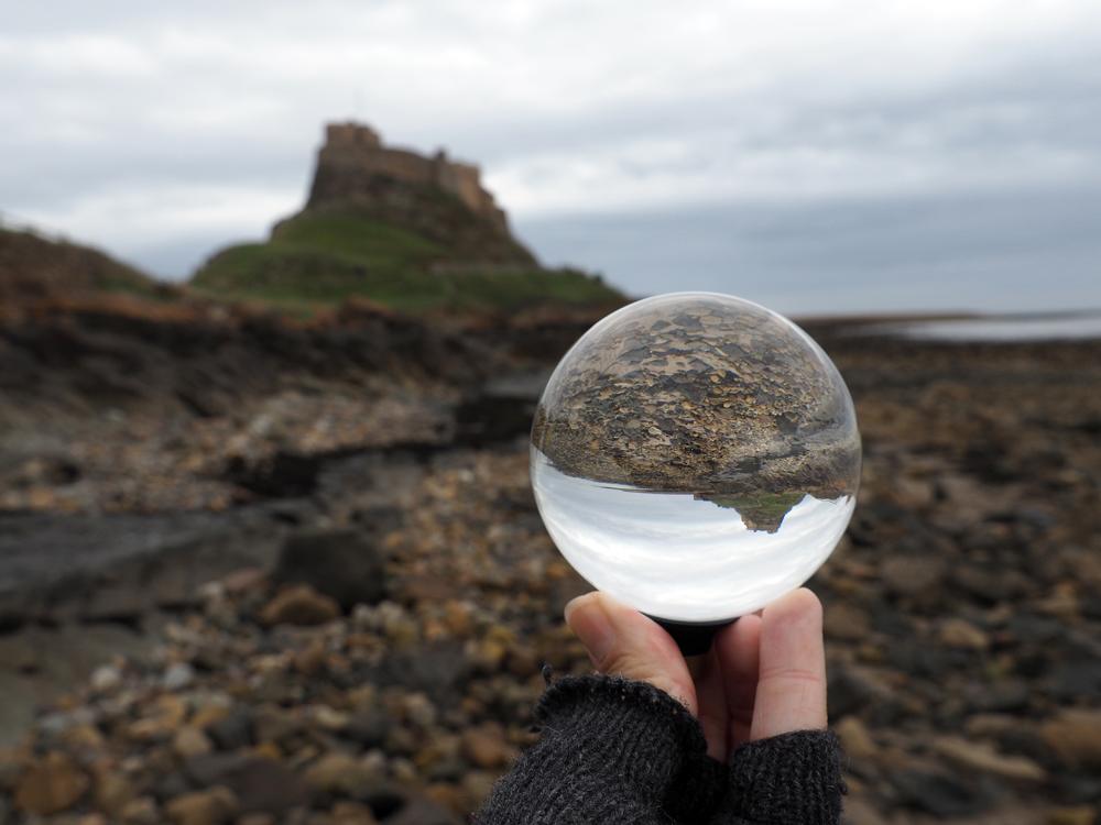 Lensball photography on Holy Island