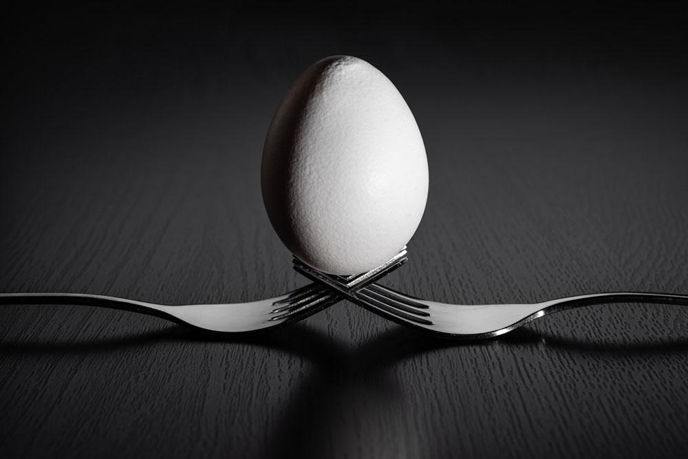 Egg on forks