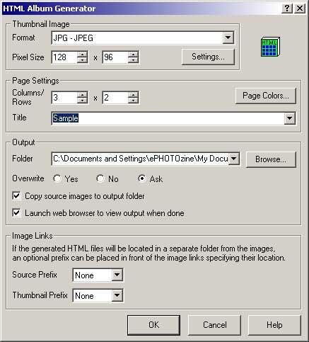 ACDSee 4 HTML Generator
