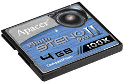 Apacer launch Photo Steno PRO-II 100X CF card
