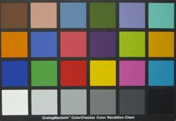 BenQ DC T700 colourchart
