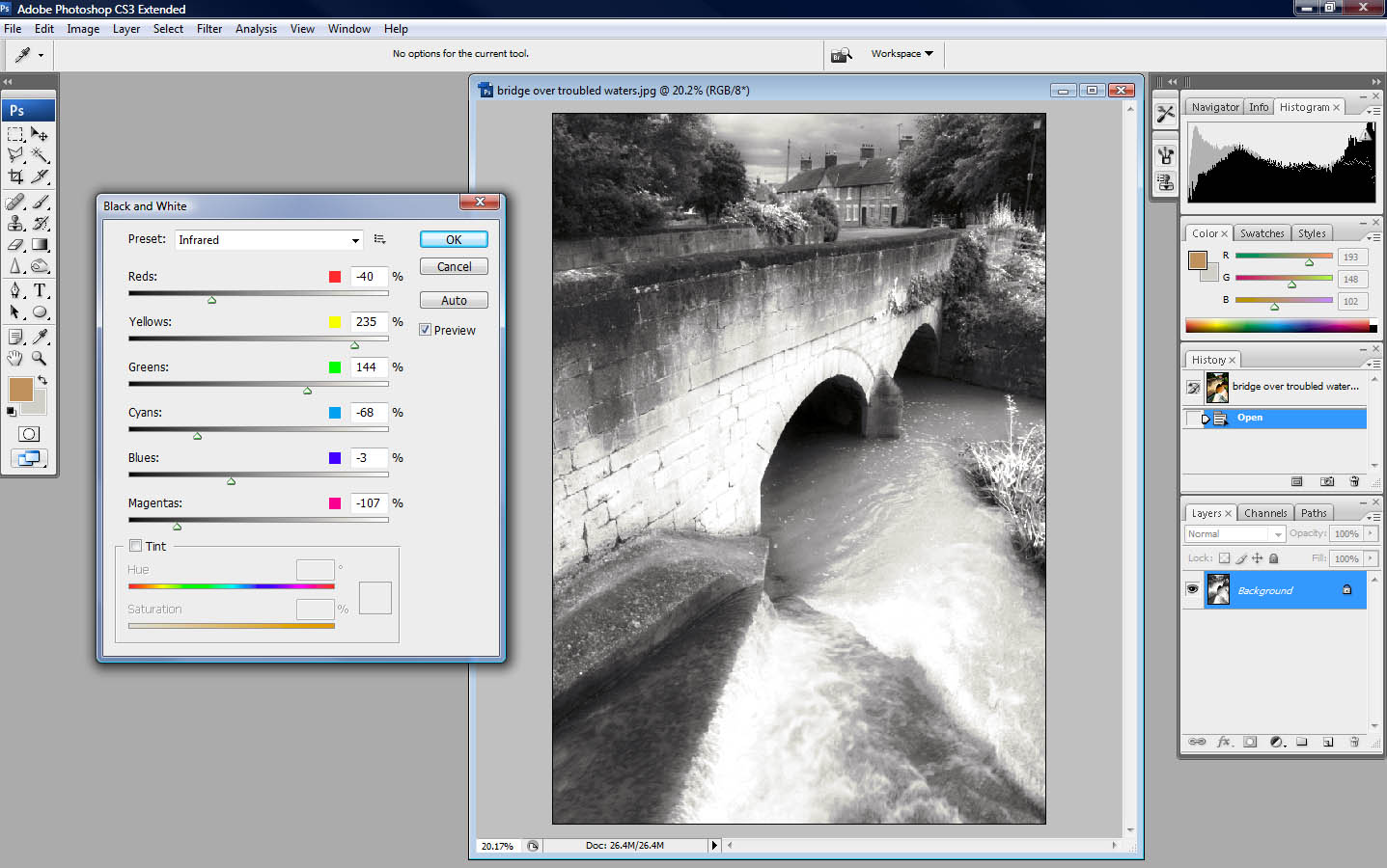 Adobe Photoshop CS3 Black and White filter | ePHOTOzine