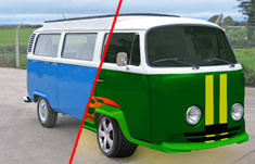 VW Camper modifications before and after