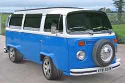 VW Camper lowering the ride