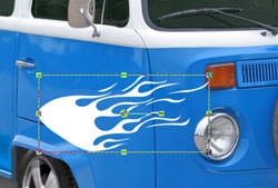 VW Camper adding decals