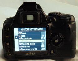 Nikon D40x rear view