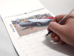 Inside a Bonus Print calendar