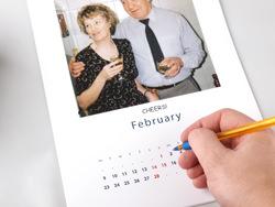 Inside Fotobook calendar