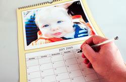 Inside a mycreation calendar
