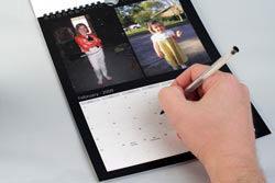 Photobox calendar inside shot