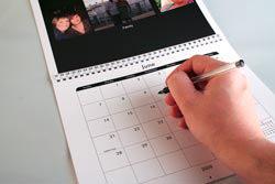 Inside a snapfish calendar