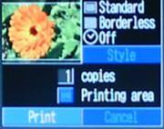 Canon Digital IXUS 330 printing