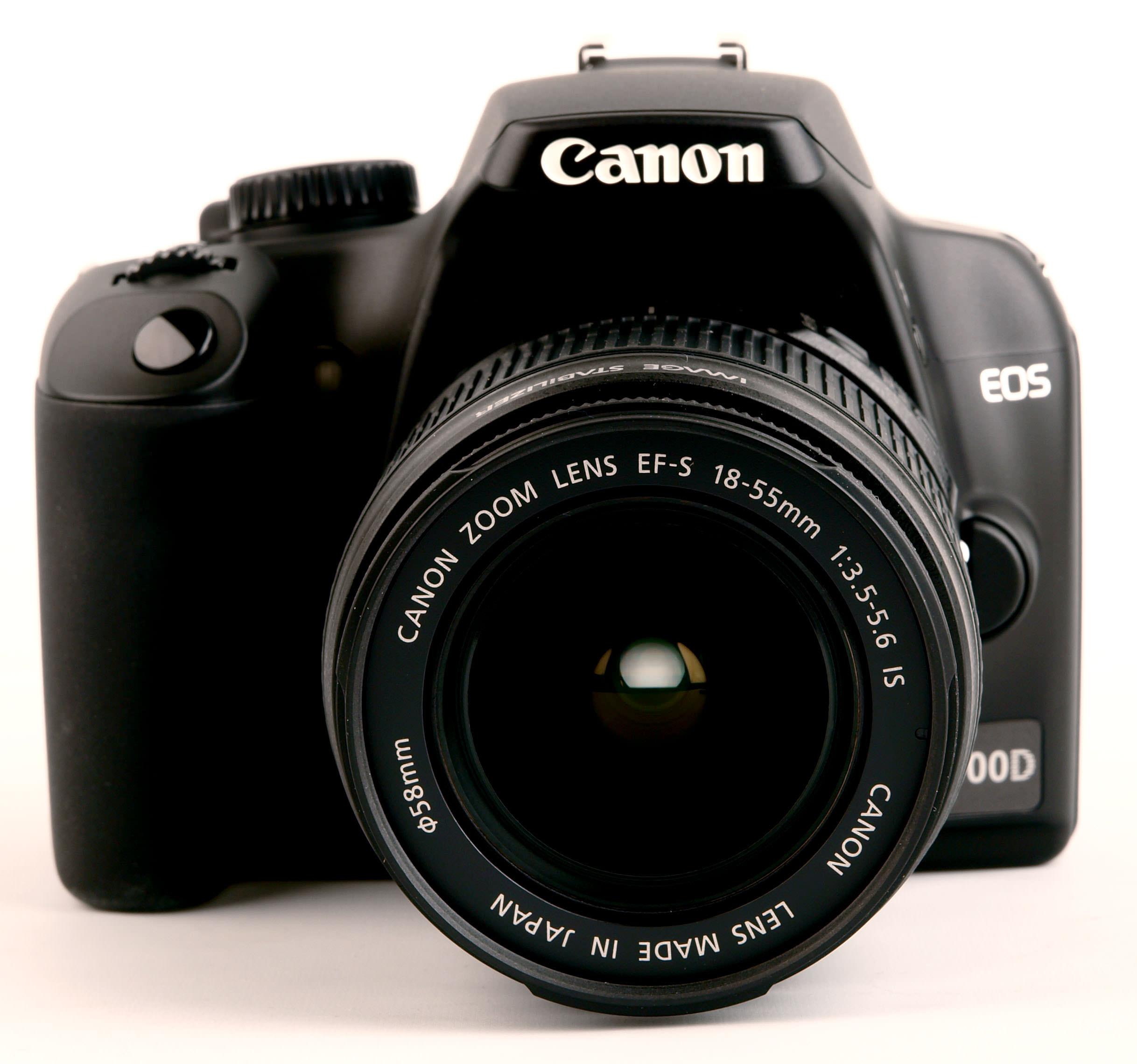 Canon EOS 1000D front view