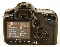 Canon EOS 40D LCD