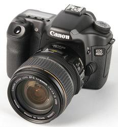 Canon EOS 40D front left