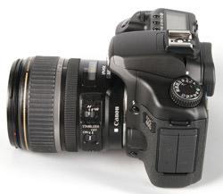 Canon EOS 40D left side