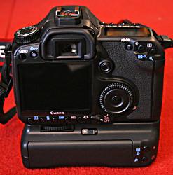 Canon EOS 40D rear