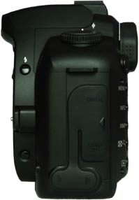 Canon EOS D60 Review - Side view