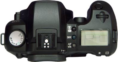 Canon EOS D60 Review - Top View