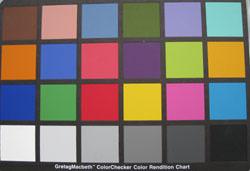 Canon IXUS 860IS colourchart image
