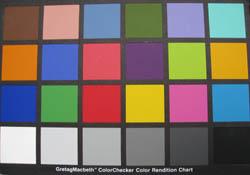 IXUS 950 Colour Chart