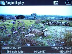 Canon Media Storage M80 screen detail