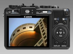 Canon PowerShot G9 LCD screen