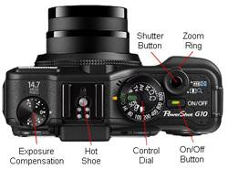Canon Powershot G10 Top