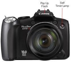 Canon Powershot SX10 Front