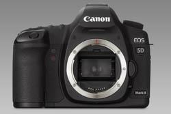 Canon 5D mark II front view