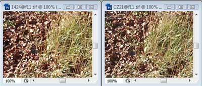 Nikon 14-24mm f/11 & Carl Zeiss 21mm f/11 Zone A resolution