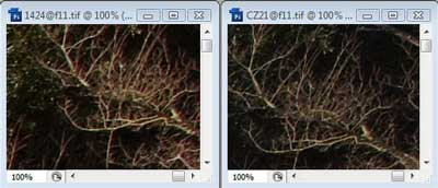 Nikon 14-24mm f/11 & Carl Zeiss 21mm f/11 Zone C resolution