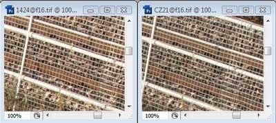 Nikon 14-24mm f/16 & Carl Zeiss 21mm f/16 Zone B resolution