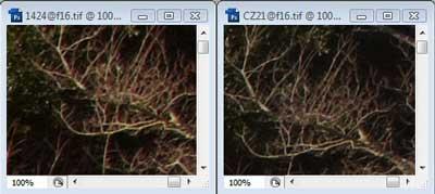 Nikon 14-24mm f/16 & Carl Zeiss 21mm f/16 Zone C resolution