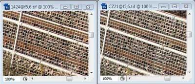 Nikon 14-24mm f/5.6 & Carl Zeiss 21mm f/5.6 Zone B resolution
