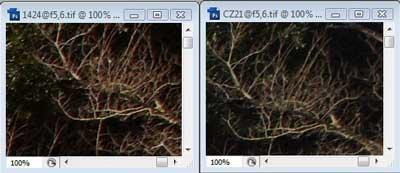 Nikon 14-24mm f/5.6 & Carl Zeiss 21mm f/5.6 Zone C resolution