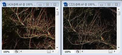 Nikon 14-24mm f/8 & Carl Zeiss 21mm f/8 Zone C resolution